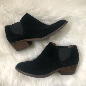 Lucky Brand Frona Black Ankle Booties